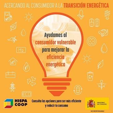 Bombilla Texto naranja Consumidor Vulnerable Eficiencia energtica